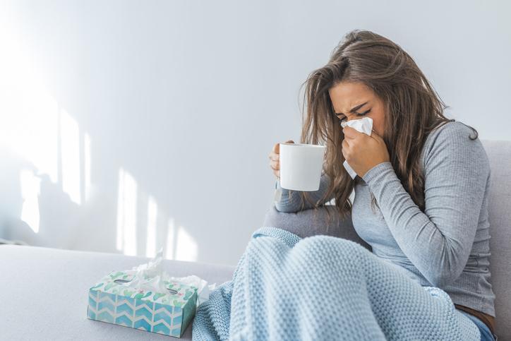rinnande näsa utan förkylning